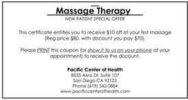 First-time Massage coupon